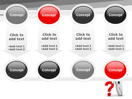 Red Question Mark Under Hand Of Man PowerPoint Template Slide 18