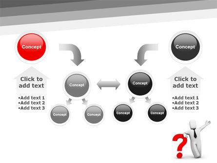 Red Question Mark Under Hand Of Man PowerPoint Template Slide 19
