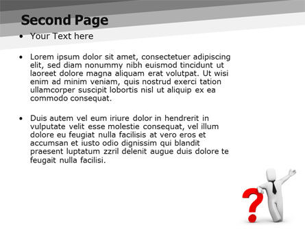 Red Question Mark Under Hand Of Man PowerPoint Template Slide 2