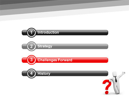 Red Question Mark Under Hand Of Man PowerPoint Template, Slide 3, 05202, Consulting — PoweredTemplate.com