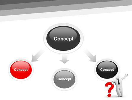 Red Question Mark Under Hand Of Man PowerPoint Template, Slide 4, 05202, Consulting — PoweredTemplate.com