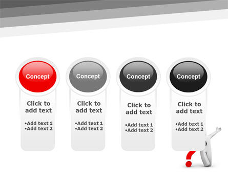 Red Question Mark Under Hand Of Man PowerPoint Template Slide 5