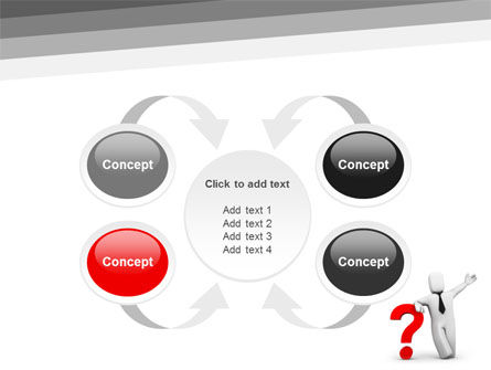 Red Question Mark Under Hand Of Man PowerPoint Template Slide 6