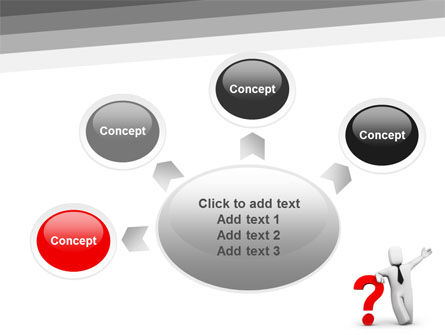 Red Question Mark Under Hand Of Man PowerPoint Template Slide 7