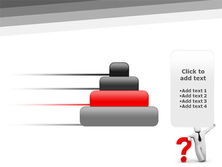 Red Question Mark Under Hand Of Man PowerPoint Template Slide 8