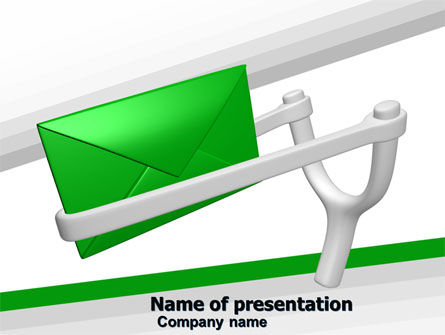 Letter PowerPoint Template, 05203, Careers/Industry — PoweredTemplate.com