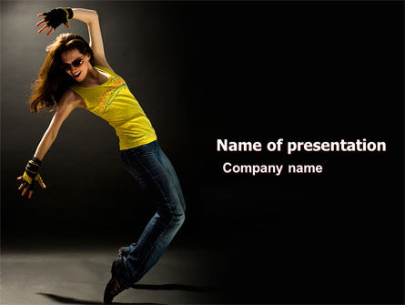 People: Modern Dance PowerPoint Template #05205