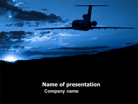 Cars and Transportation: Air Flight PowerPoint Template #05206