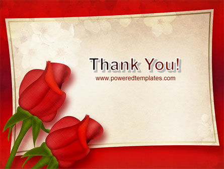 Red Roses Card PowerPoint Template Slide 20