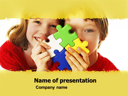 Education & Training: Jigsaw Game PowerPoint Template #05208