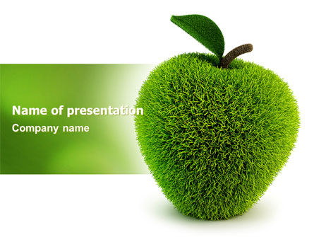 3D: Grass Apple PowerPoint Template #05209