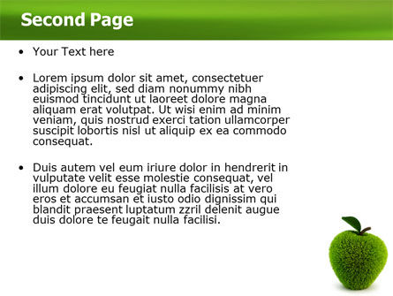 Grass Apple PowerPoint Template Slide 2