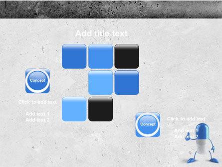 Blue Pill PowerPoint Template Slide 16