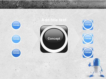Blue Pill PowerPoint Template Slide 17