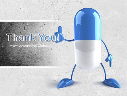 Blue Pill PowerPoint Template Slide 20
