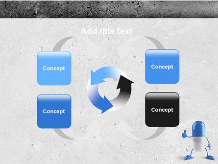 Blue Pill PowerPoint Template Slide 6