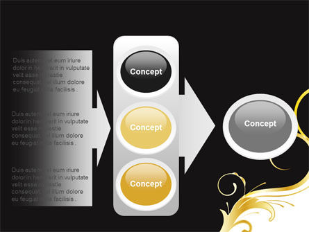 Gold Ornament PowerPoint Template Slide 11