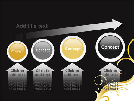 Gold Ornament PowerPoint Template Slide 13