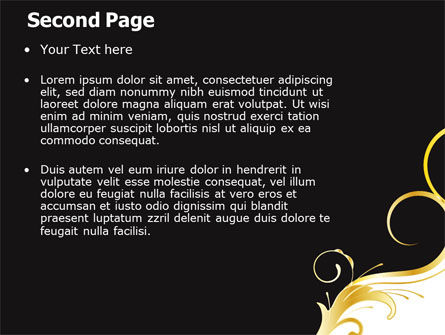 Gold Ornament PowerPoint Template Slide 2