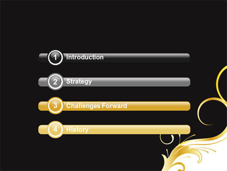 Gold Ornament PowerPoint Template Slide 3