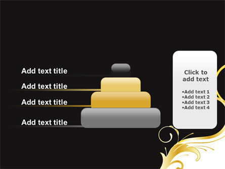 Gold Ornament PowerPoint Template Slide 8