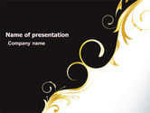 Abstract/Textures: Gold Ornament PowerPoint Template #05213
