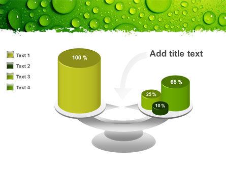Green Water Drops PowerPoint Template Slide 10