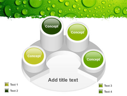 Green Water Drops PowerPoint Template Slide 12