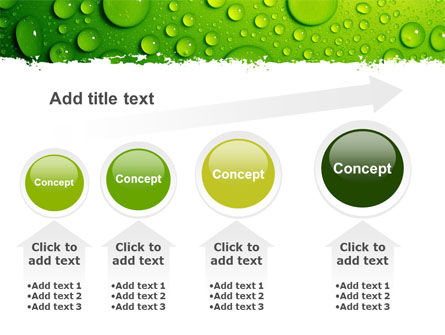 Green Water Drops PowerPoint Template Slide 13