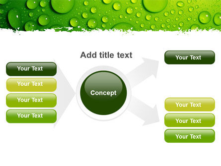 Green Water Drops PowerPoint Template Slide 14
