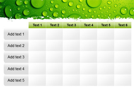 Green Water Drops PowerPoint Template Slide 15