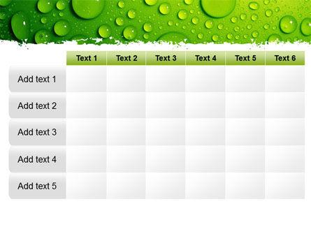 Green Water Drops PowerPoint Template Slide 15
