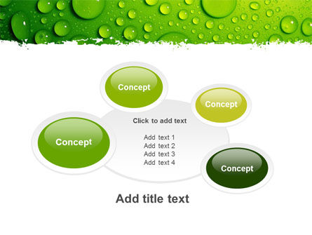 Green Water Drops PowerPoint Template Slide 16