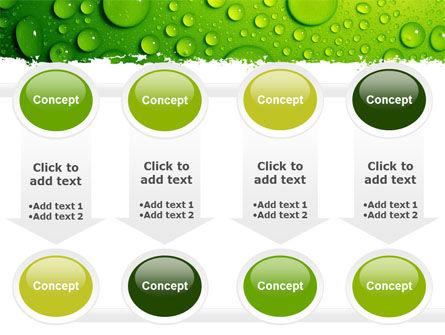 Green Water Drops PowerPoint Template Slide 18
