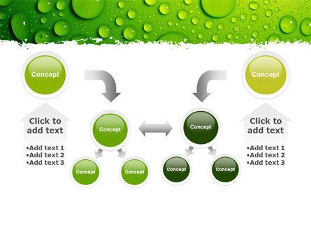 Green Water Drops PowerPoint Template Slide 19