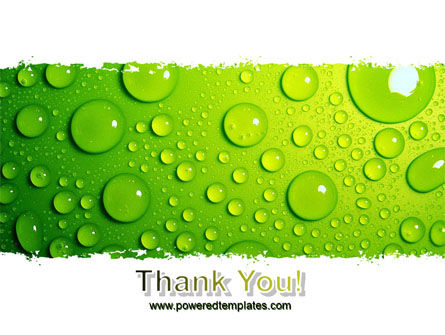 Green Water Drops PowerPoint Template Slide 20