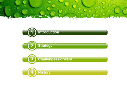 Green Water Drops PowerPoint Template Slide 3