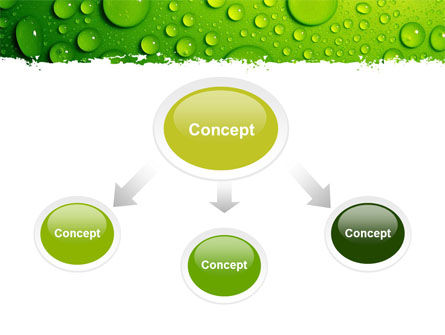 Green Water Drops PowerPoint Template Slide 4