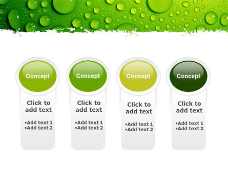 Green Water Drops PowerPoint Template Slide 5