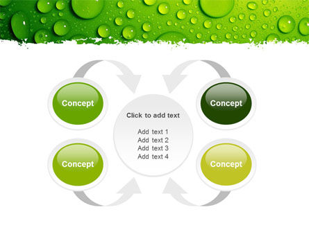 Green Water Drops PowerPoint Template Slide 6