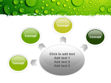 Green Water Drops PowerPoint Template Slide 7