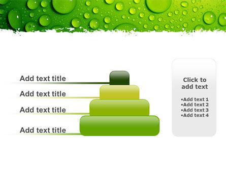 Green Water Drops PowerPoint Template Slide 8