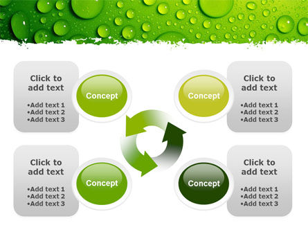 Green Water Drops PowerPoint Template Slide 9