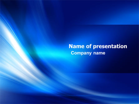 Abstract/Textures: Abstract Blue Stroke PowerPoint Template #05217