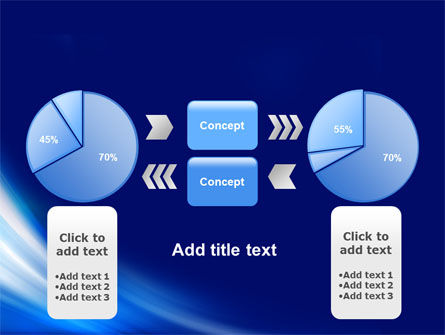 Abstract Blue Stroke PowerPoint Template Slide 11