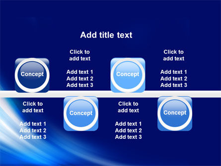 Abstract Blue Stroke PowerPoint Template Slide 19