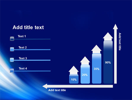 Abstract Blue Stroke PowerPoint Template Slide 8