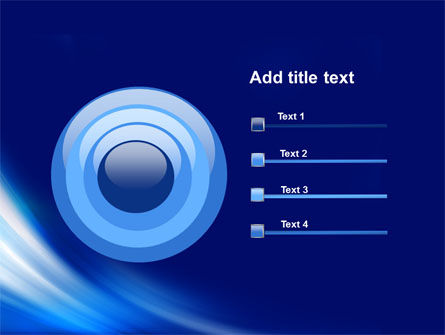 Abstract Blue Stroke PowerPoint Template Slide 9