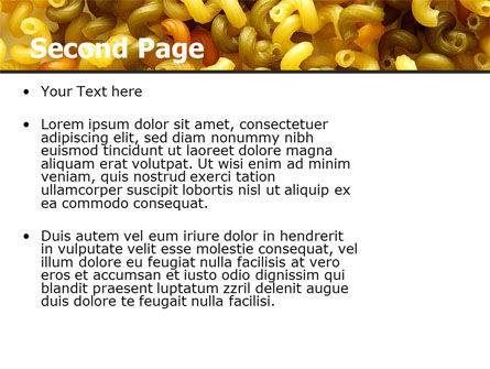 Macaroni PowerPoint Template, Slide 2, 05218, Food & Beverage — PoweredTemplate.com