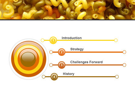 Macaroni PowerPoint Template, Slide 3, 05218, Food & Beverage — PoweredTemplate.com
